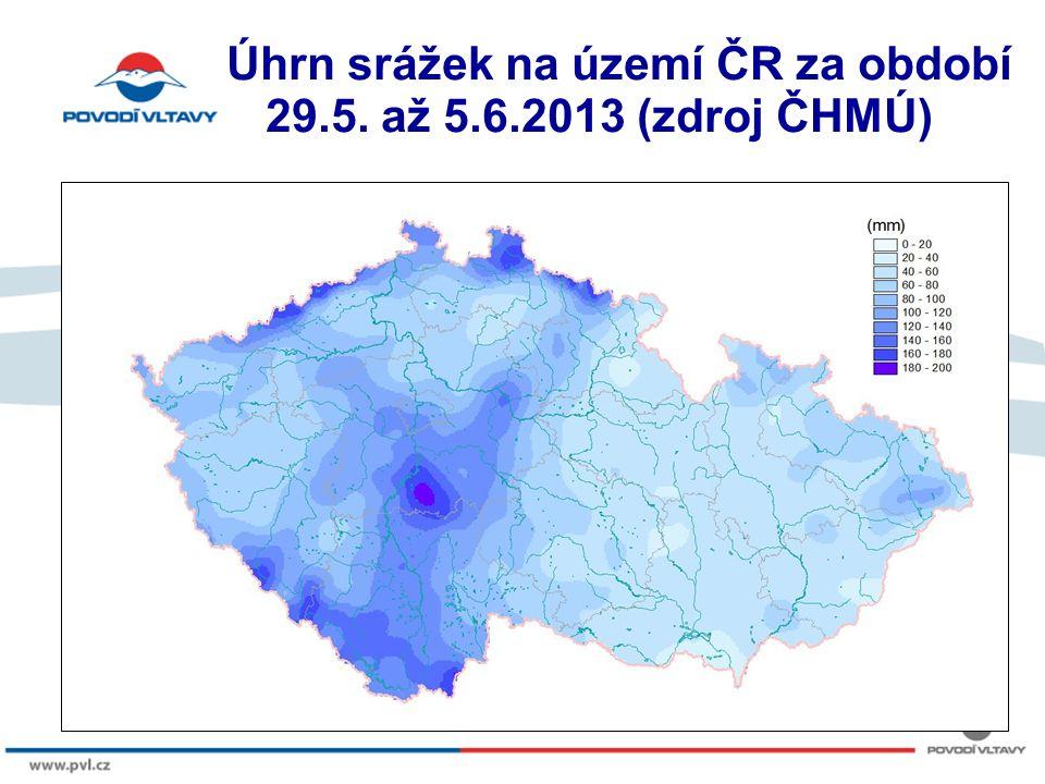 8/9/12 Úhrn srážek na území ČR za období 29.5. až 5.6.2013 (zdroj ČHMÚ)
