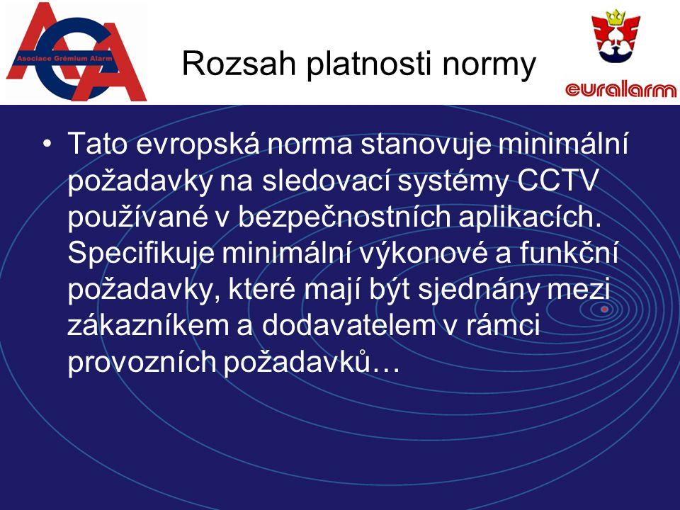 Bezpečnost systému Identifikace dat Systém CCTV musí jedinečným způsobem označit data o Stupně zabezpečení 1234 umístění (např.