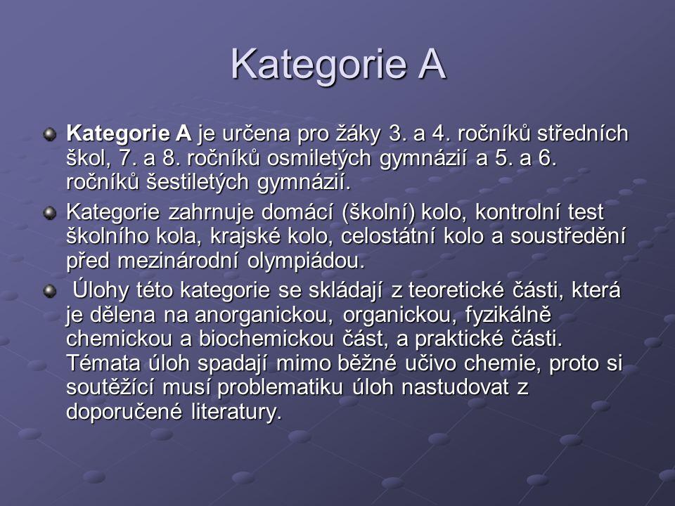 Kategorie A Kategorie A je určena pro žáky 3. a 4.