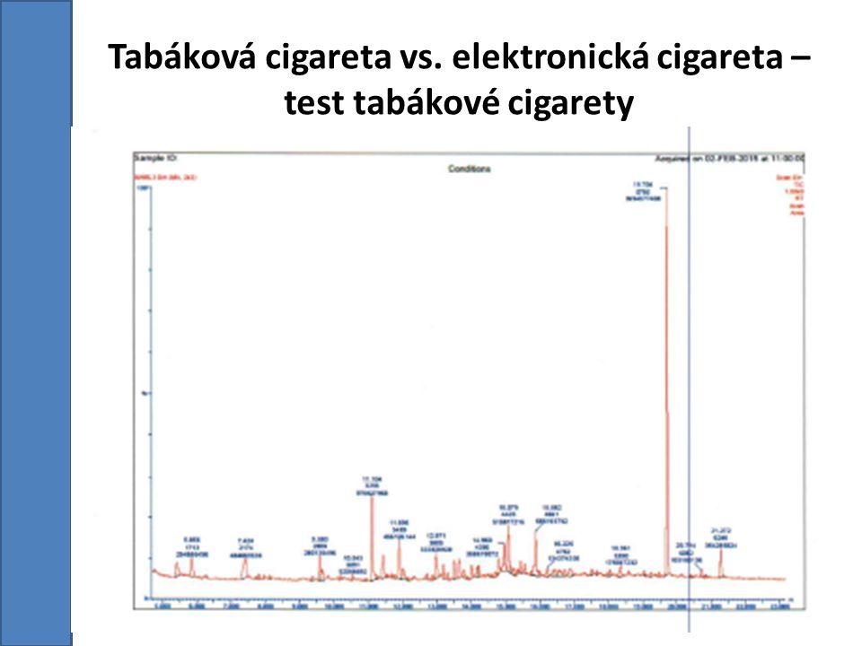 Tabáková cigareta vs. elektronická cigareta – test tabákové cigarety