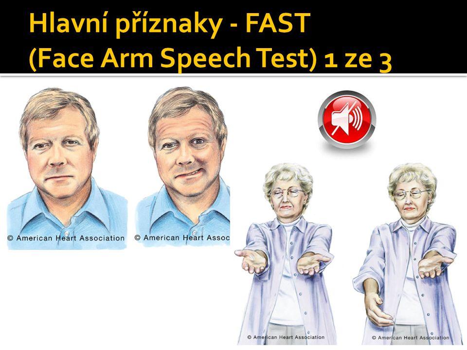 Hlavní příznaky - FAST (Face Arm Speech Test) 1 ze 3