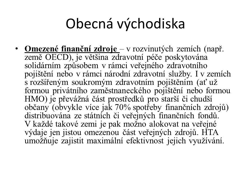 Obecná východiska Omezené finanční zdroje – v rozvinutých zemích (např.