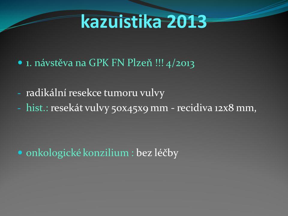 kazuistika 2013 1. návstěva na GPK FN Plzeň !!.