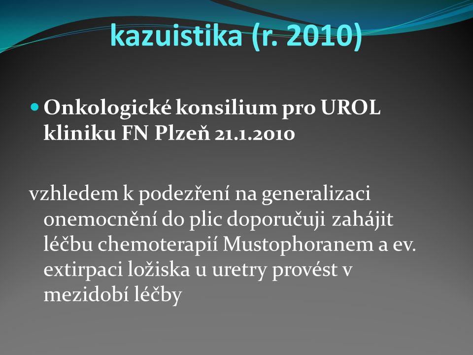 kazuistika 8-12/2015 opakované hospitalizace na onkologii MR mozku (8/2015) : metastáza kalvy frontálně vpravo a v.s.