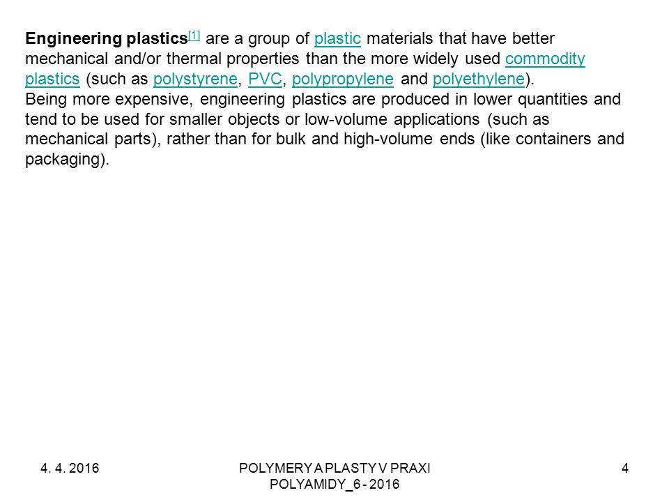 POLYAMIDY – Odlévání PA 6 4.4.