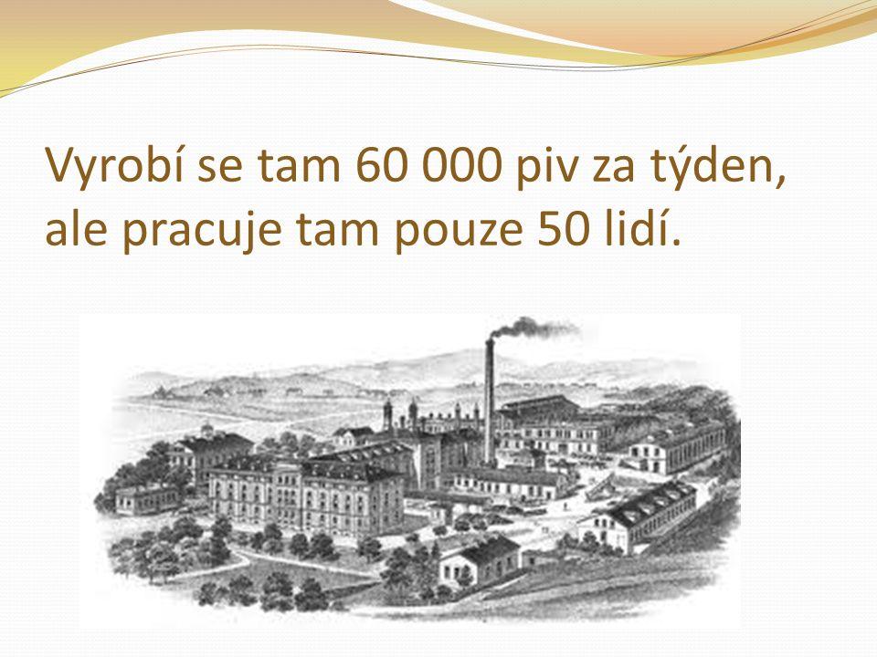 Vyrobí se tam 60 000 piv za týden, ale pracuje tam pouze 50 lidí.