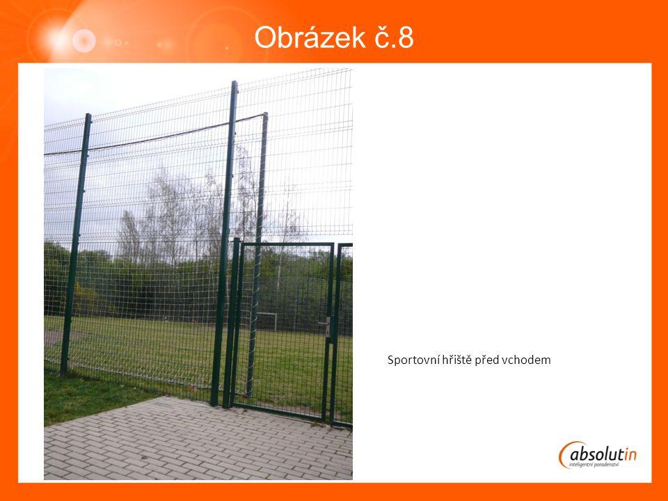 Obrázek č.8 Sportovní hřiště před vchodem