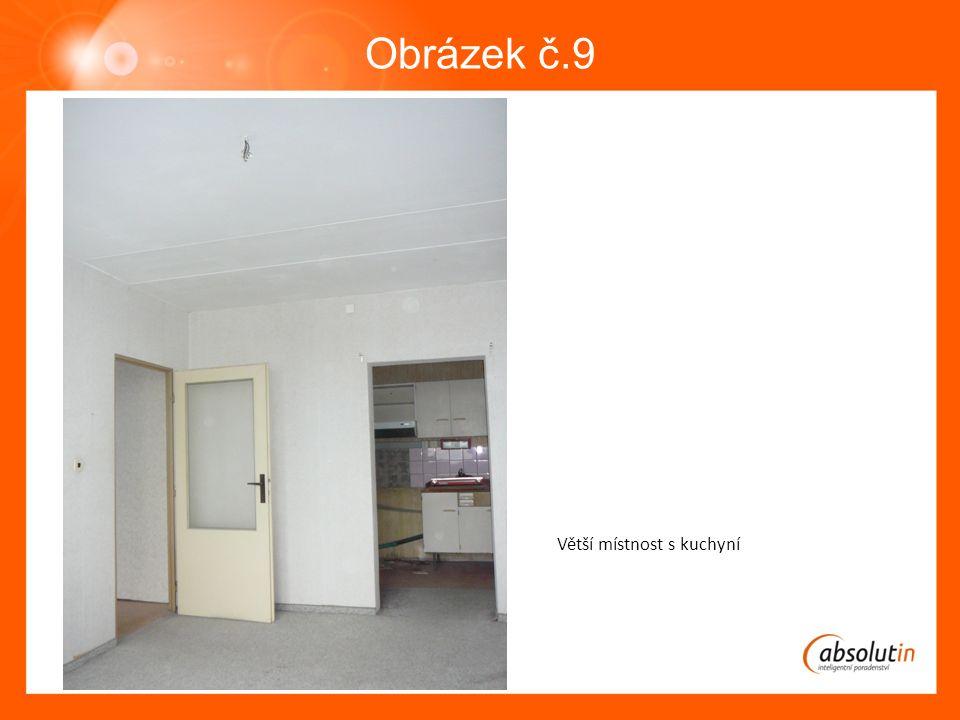 Obrázek č.9 Větší místnost s kuchyní