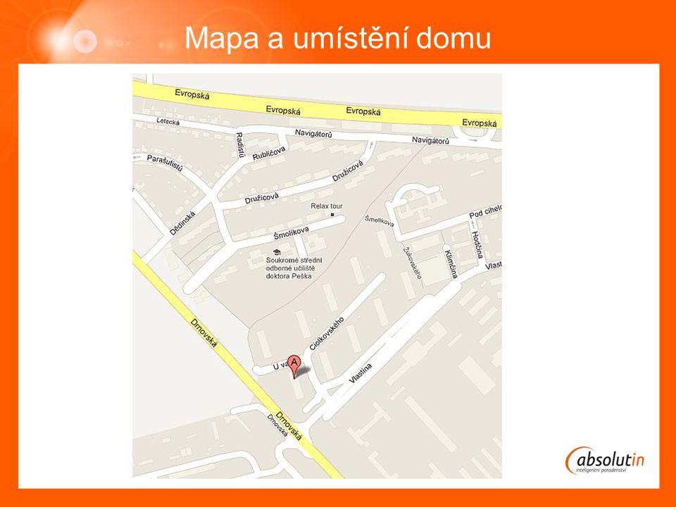 Mapa a umístění domu