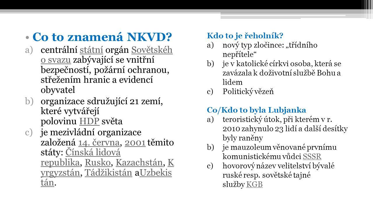 Co to znamená NKVD.