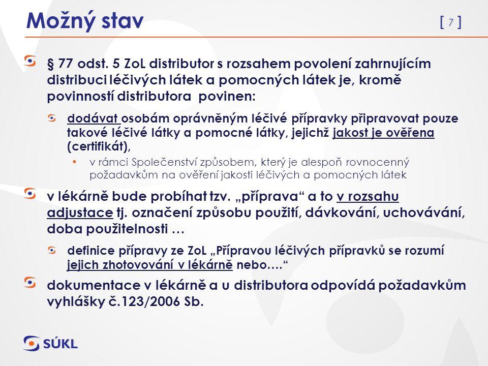[ 8 ] Nutné legislativní změny k bodu 2.novela zákona č.167/1998 Sb., přesunout z přílohy 3.