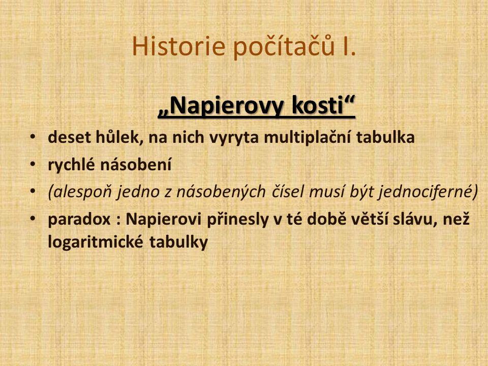Historie počítačů I.