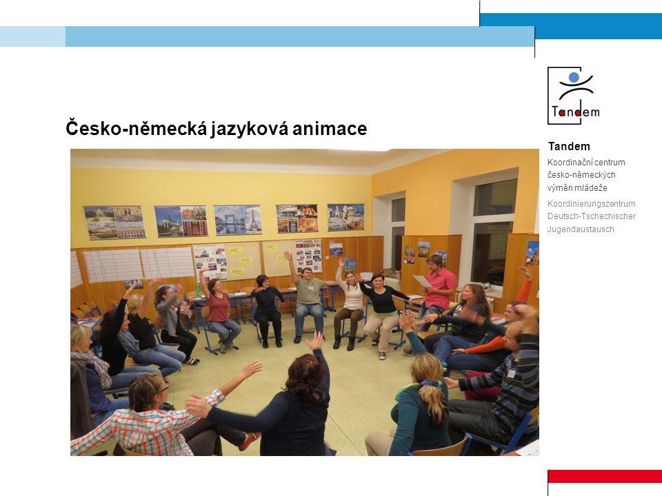 Tandem Koordinační centrum česko-německých výměn mládeže Koordinierungszentrum Deutsch-Tschechischer Jugendaustausch Česko-německá jazyková animace