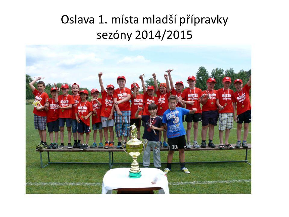 Oslava 1. místa mladší přípravky sezóny 2014/2015