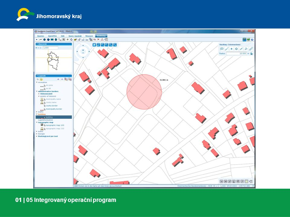 01 |01 | 06 Integrovaný operační program Garantem řešení projektu je Jihomoravský kraj, Katastrální úřad pro Jihomoravský kraj a ČÚZK.