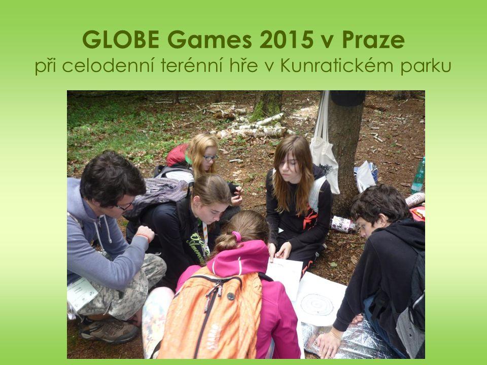 GLOBE Games 2015 v Praze při celodenní terénní hře v Kunratickém parku