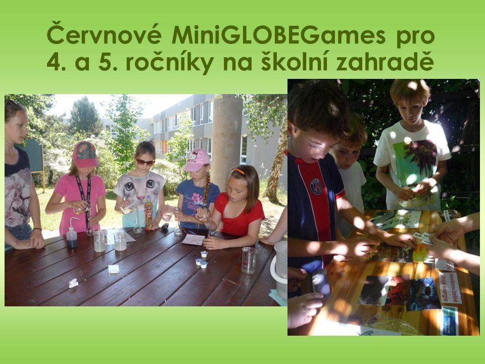 Červnové MiniGLOBEGames pro 4. a 5. ročníky na školní zahradě