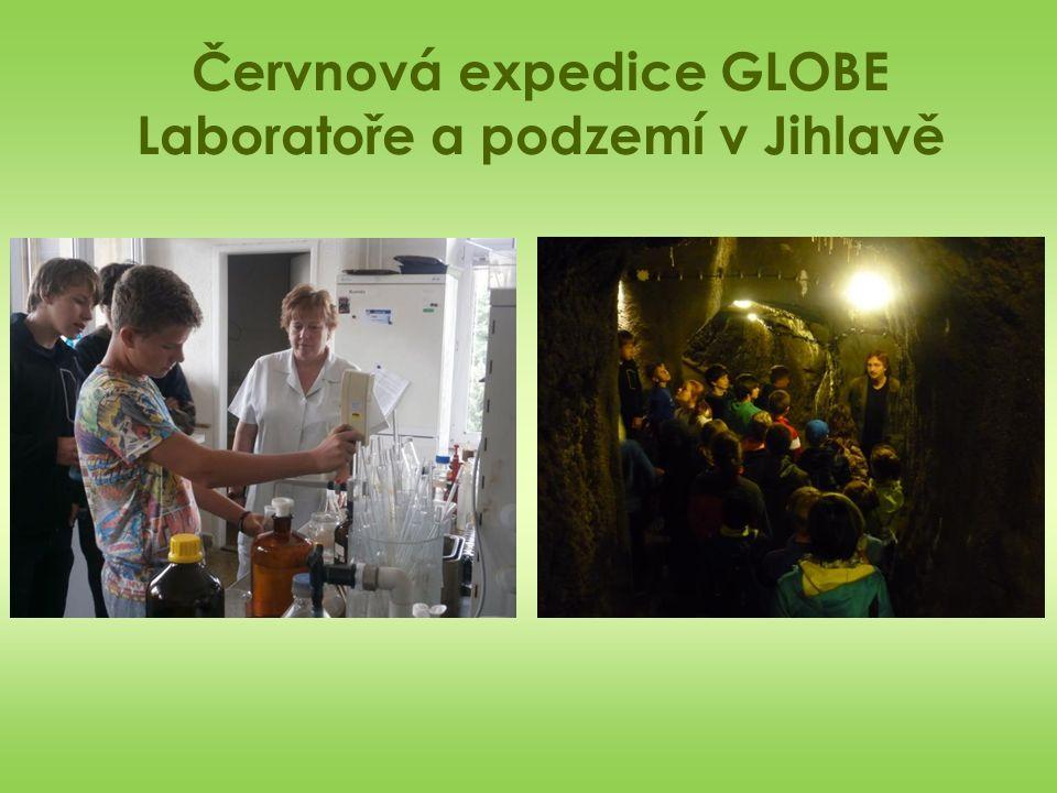 Červnová expedice GLOBE Laboratoře a podzemí v Jihlavě