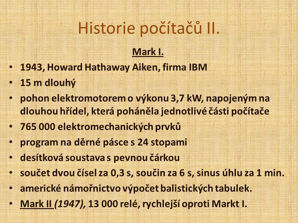 Historie počítačů II. Mark I.