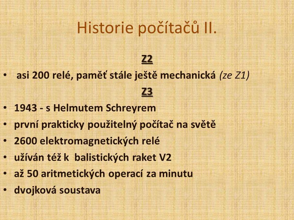 Historie počítačů II. Druhá generace 1951 -1965