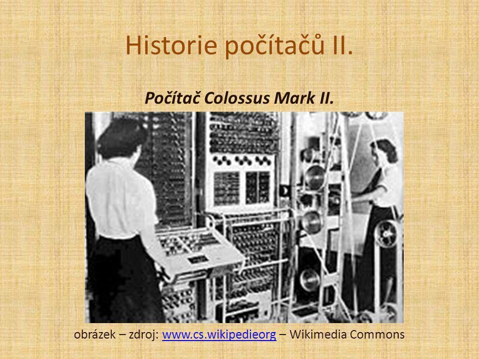 Historie počítačů II. Počítač Colossus Mark II.