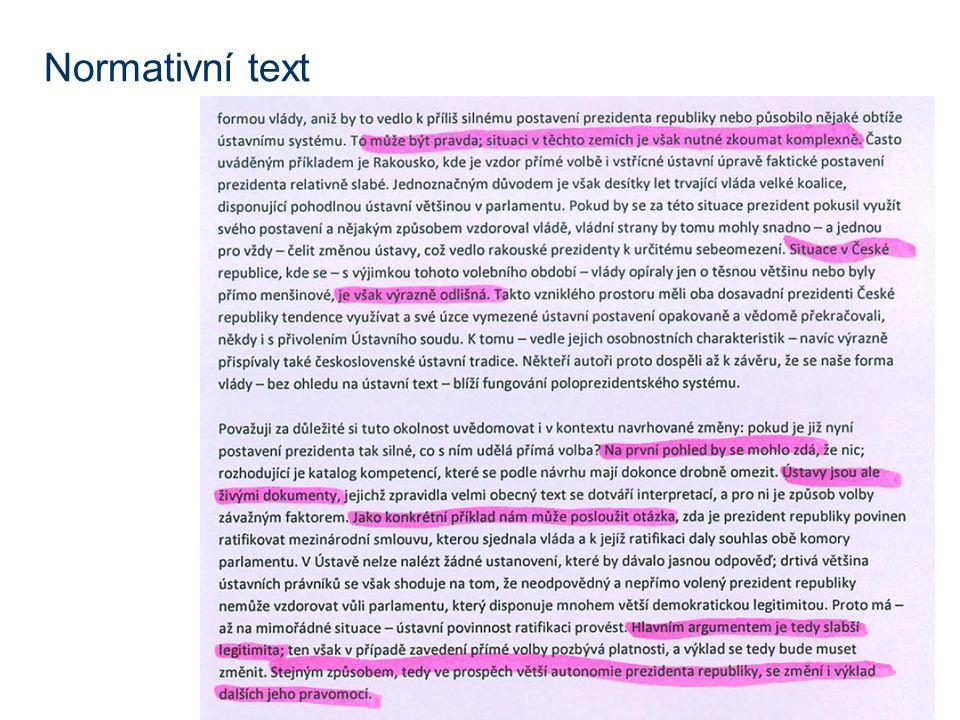 Normativní text