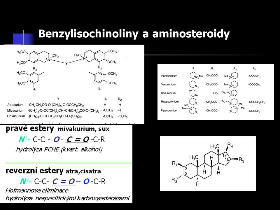 Benzylisochinoliny a aminosteroidy
