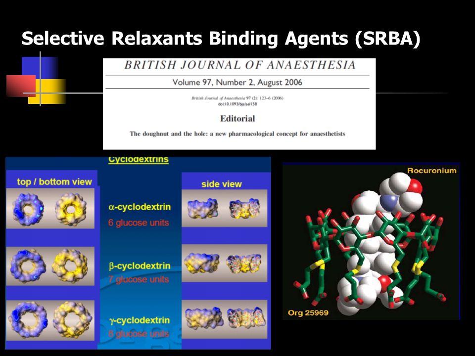 Selective Relaxants Binding Agents (SRBA)