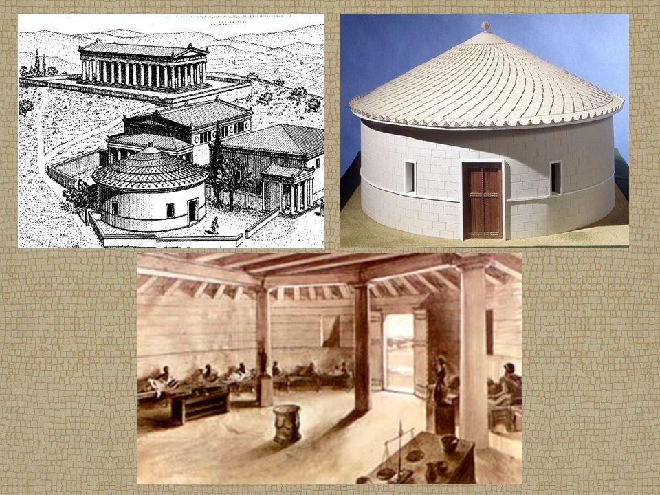 Lysikratův památník - výstavba - r.334 př. Kr.