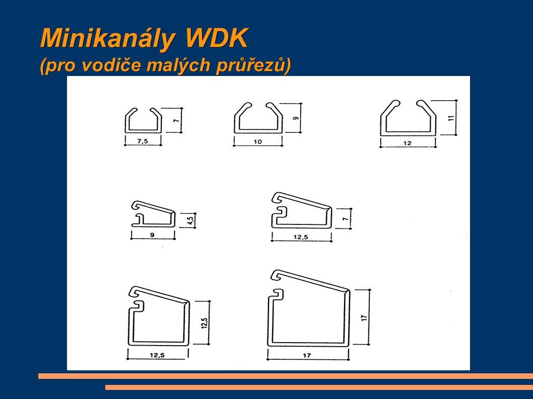 Minikanály WDK (pro vodiče malých průřezů)