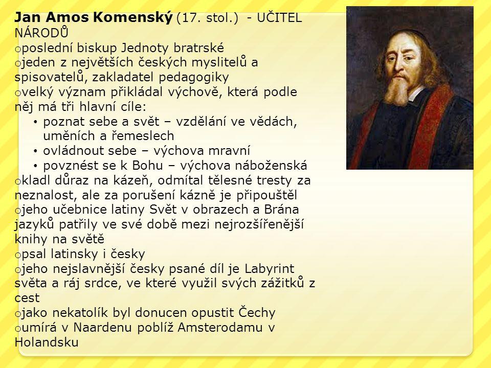 Jan Amos Komenský (17.