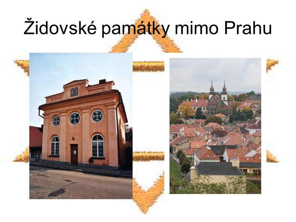 Židovské památky mimo Prahu