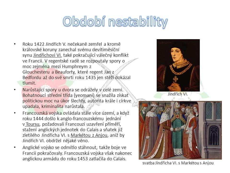 Roku 1422 Jindřich V.