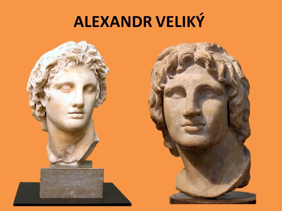 nastupuje na trůn ve 20-ti letech musí se vypořádat s nepřáteli Théby - řecké město - povstalo proti Alexandrovi - dobyl jej a srovnal se zemí jako ponaučení pro jiné vzbouřence přečíst text učebnice str.