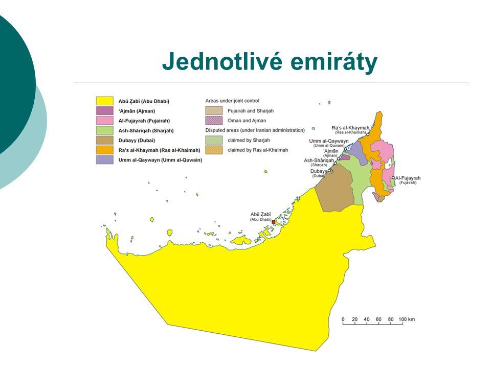 Jednotlivé emiráty
