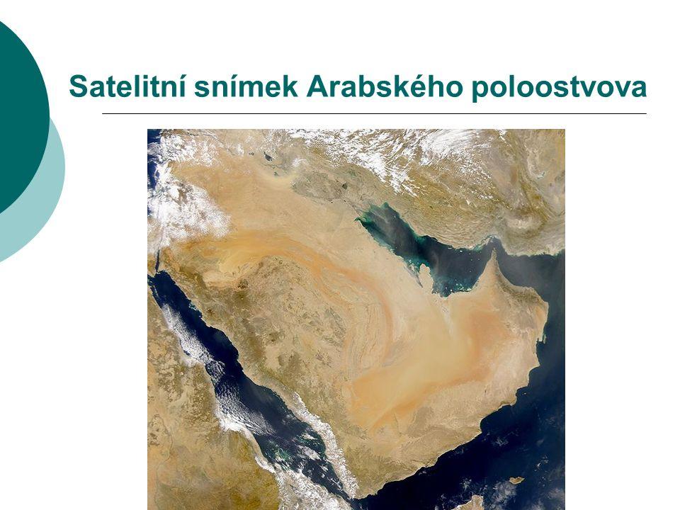Satelitní snímek Arabského poloostvova