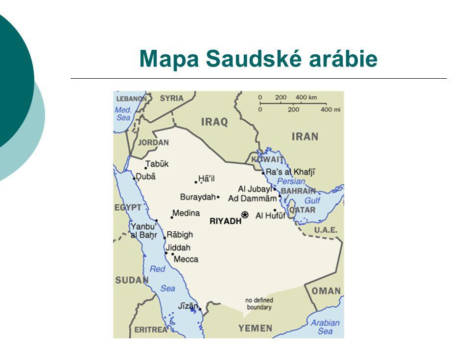 Mapa Saudské arábie