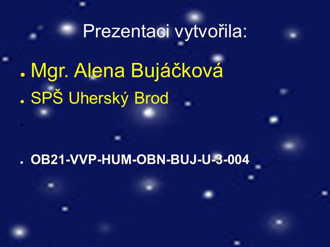 Prezentaci vytvořila: ● Mgr. Alena Bujáčková ● SPŠ Uherský Brod ● OB21-VVP-HUM-OBN-BUJ-U-3-004