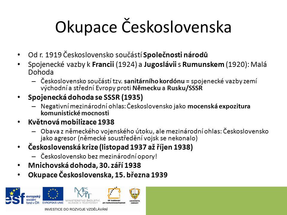 Okupace Československa Od r.