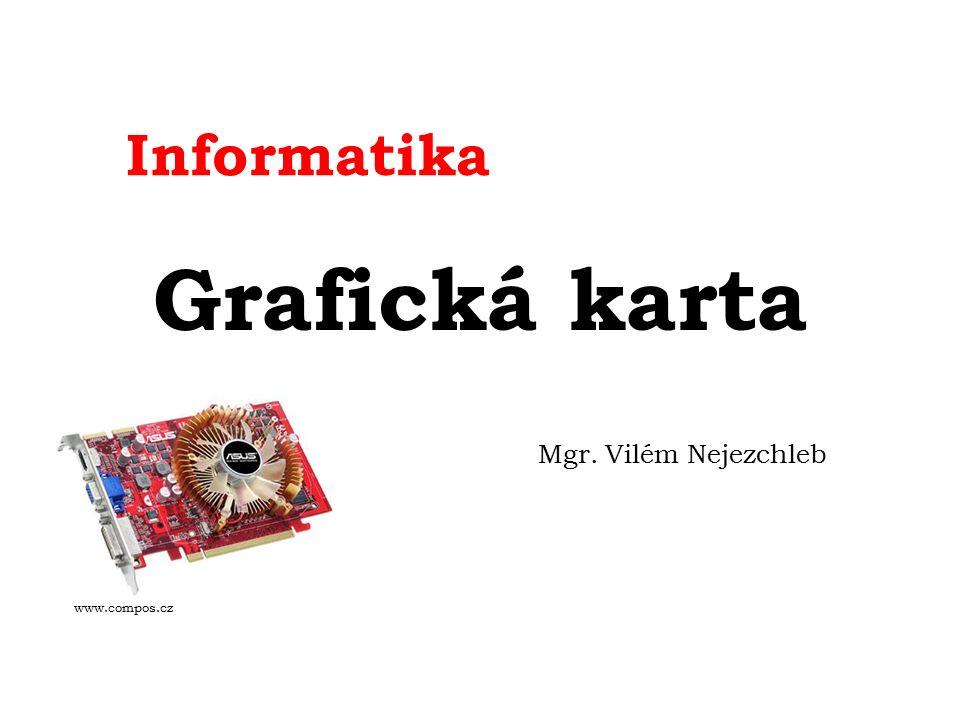 Informatika Grafická karta Mgr. Vilém Nejezchleb www.compos.cz