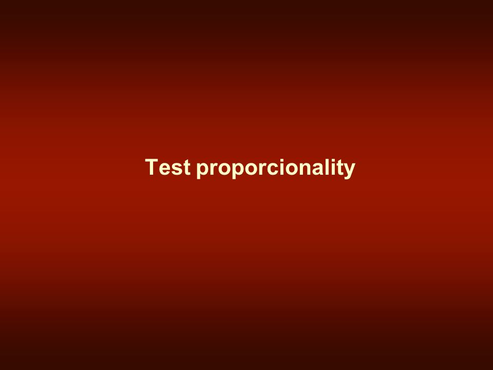 Test proporcionality