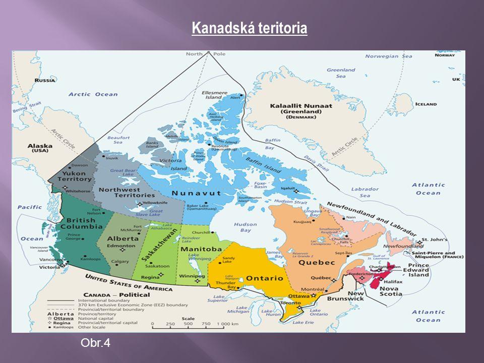 Quebec – mapa teritoria Obr.5
