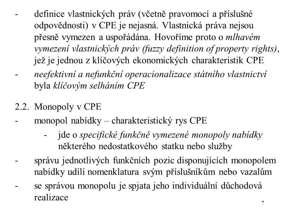 28 9.3.Nákladový mechanismus: nabídková inflace -snahu podniků v CPE o permanentní zvyšování vlastních nákladů výroby označujeme pojmem nákladový mechanismus -příčinou existence nákladového mechanismu jsou objemové hodnotové ukazatele zadané jako kritérium činnosti podniku, při existenci cen určených nikoliv trhem (střetem nabídky a poptávky), nýbrž stanovených podle kalkulačního vzorce určeného plánovým centrem (hodnotový ukazatel U je stanoven jako objem produkce v naturálním vyjádření q krát velkoobchodní cena VOC: U = a.