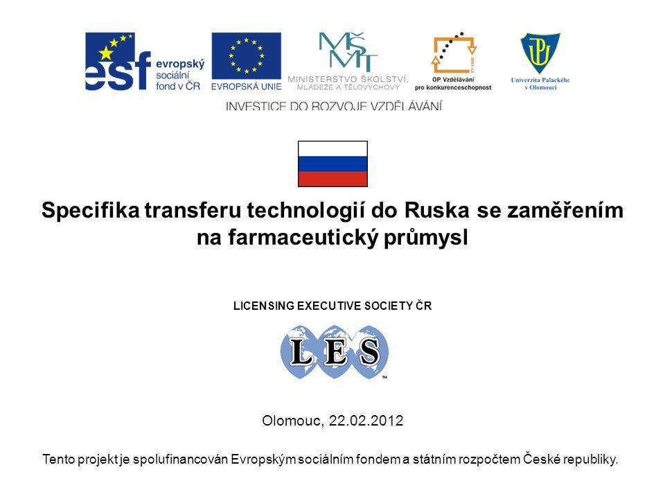 O B S A H 1.Hospodářství Ruska včera a dnes 2.Vývoj ruského farmaceutického trhu 3.