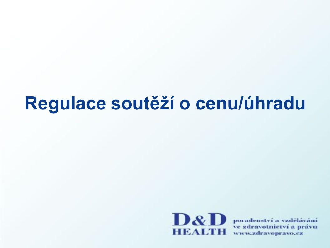Regulace soutěží o cenu/úhradu