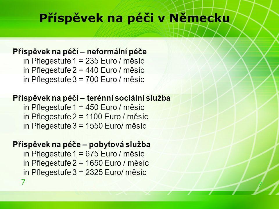 8 8 Základní hypotézy k současnému modelu příspěvku na péči v ČR >210 079 příjemců příspěvku na péči z celkového počtu 304 842 používá příspěvek na péči nikoliv na nákup sociálních služeb, nýbrž na zajištění tzv.