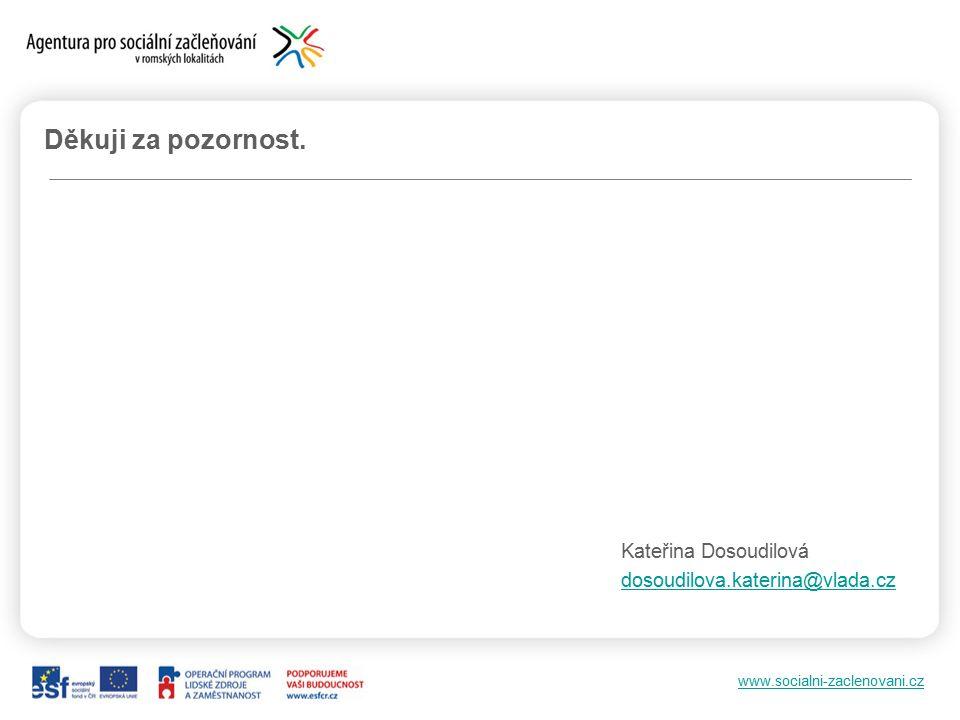 www.socialni-zaclenovani.cz Děkuji za pozornost. Kateřina Dosoudilová dosoudilova.katerina@vlada.cz