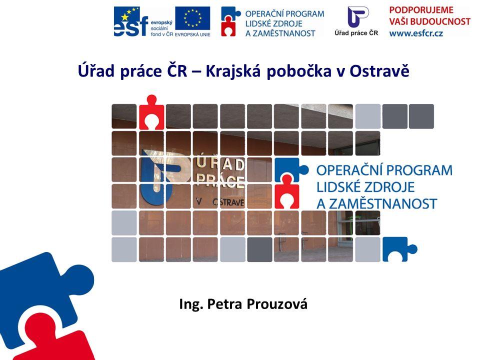 Úřad práce ČR – Krajská pobočka v Ostravě Ing. Petra Prouzová