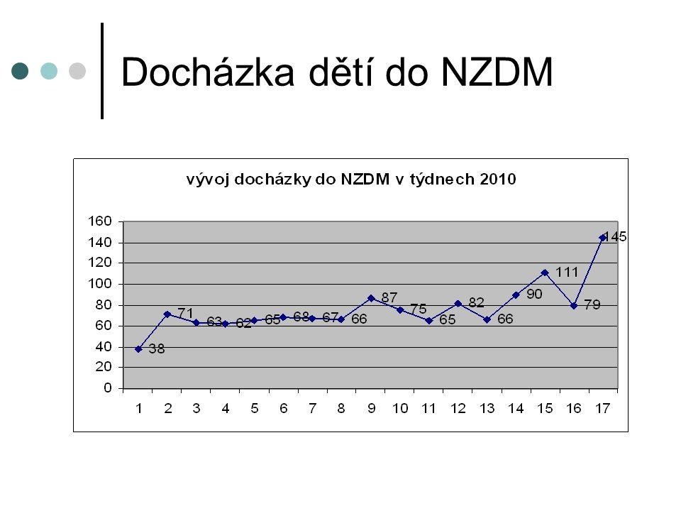 Docházka dětí do NZDM