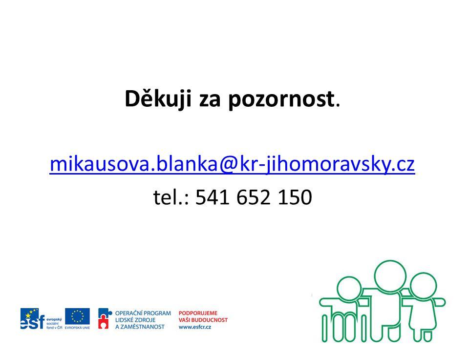 Děkuji za pozornost. mikausova.blanka@kr-jihomoravsky.cz tel.: 541 652 150